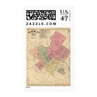Map of Petaluma City 1877 Postage
