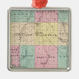 Map of Pierce County and Ellsworth Christmas Ornaments