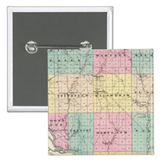 Map of Pierce County and Ellsworth Pinback Button