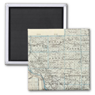 Map of Pike County and Pittsfield 2 Inch Square Magnet