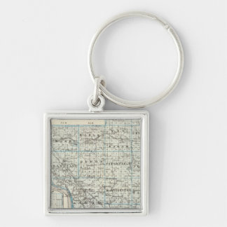 Map of Pike County and Pittsfield Keychains