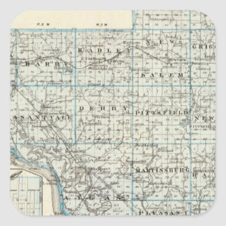 Map of Pike County and Pittsfield Square Sticker