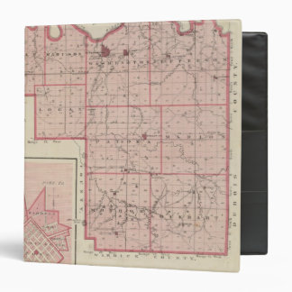 Map of Pike County with Plan of Petersburg 3 Ring Binder