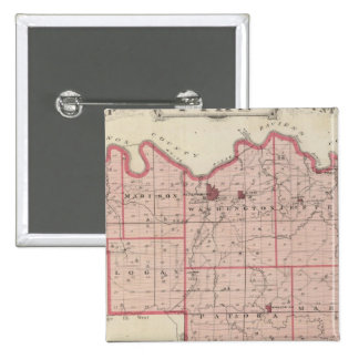 Map of Pike County with Plan of Petersburg Pinback Button