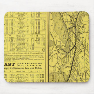 Map of Pittsburgh and Western Railway Mouse Pad