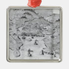 Map of Plymouth, c.1539 Metal Ornament
