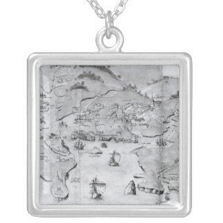 Map of Plymouth, c.1539 Pendant