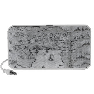 Map of Plymouth, c.1539 iPhone Speaker