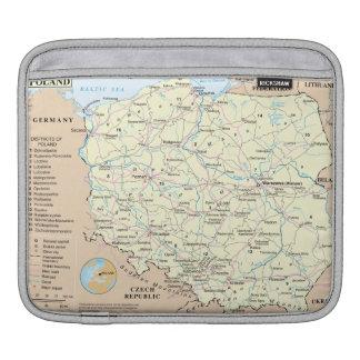 Map of Poland iPad Rickshaw Sleeve Sleeve For iPads