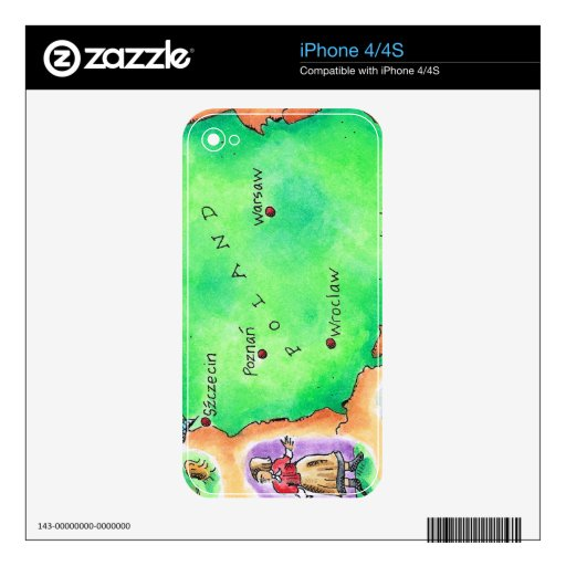 Map of Poland iPhone 4 Skin