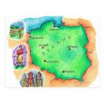Map of Poland Postcard