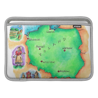 Map of Poland Sleeves For MacBook Air