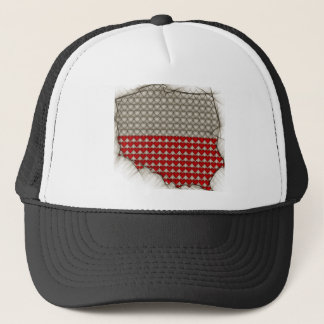Map of POlands with Polish flag colors Trucker Hat