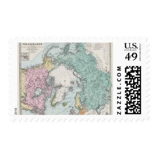 Map of Polar Seas Postage