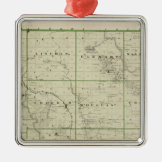 Map of Polk County, State of Iowa Metal Ornament