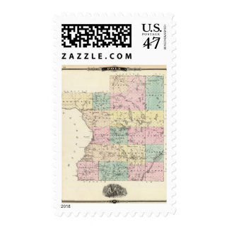 Map of Polk County, State of Wisconsin Postage