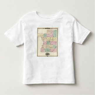 Map of Polk County, State of Wisconsin Toddler T-shirt