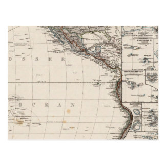Map of Polynesia Postcard