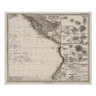 Map of Polynesia Poster