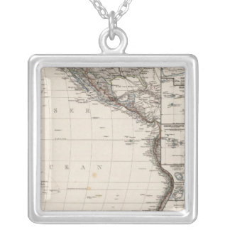 Map of Polynesia Silver Plated Necklace
