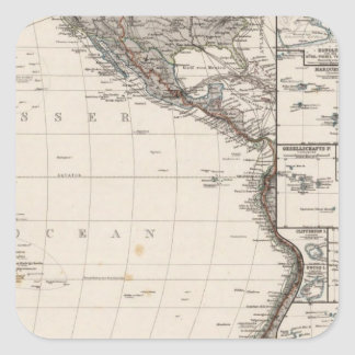 Map of Polynesia Square Sticker