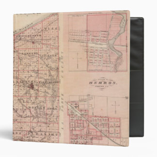Map of Porter County with Chesterton, Hebron 3 Ring Binder
