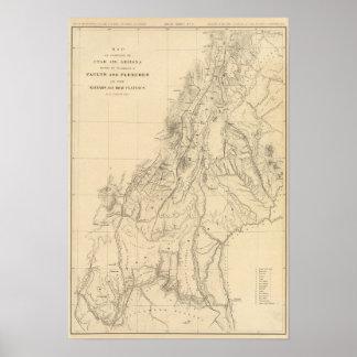 Map of portions of Utah Poster