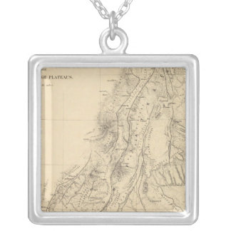 Map of portions of Utah Silver Plated Necklace