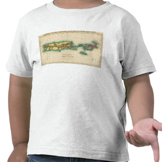 Map Of Porto Rico And The Virgin Islands Shirt