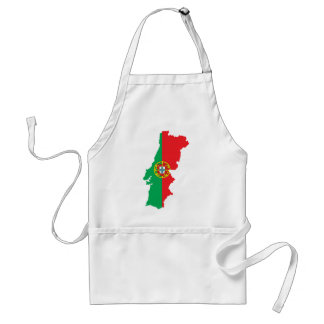 Map Of Portugal Adult Apron