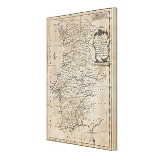 Map of Portugal Gallery Wrap Canvas