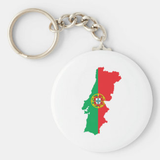 Map Of Portugal Keychain