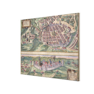 Map of Poznan and Gruczno, from 'Civitates Orbis T Canvas Print
