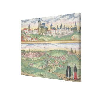 Map of Prague, from 'Civitates Orbis Terrarum' by Canvas Prints