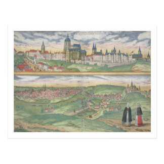 Map of Prague, from 'Civitates Orbis Terrarum' by Postcard
