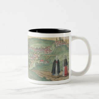 Map of Prague, from 'Civitates Orbis Terrarum' by Two-Tone Coffee Mug