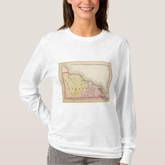 Map of Presque Isle County, Michigan T-Shirt