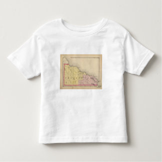 Map of Presque Isle County, Michigan Toddler T-shirt
