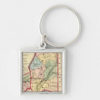 Map of Preston, Taylor, Barbour, Tucker counties Keychain