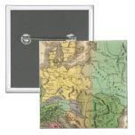 Map of Provinces in Roman Empire 2 Inch Square Button