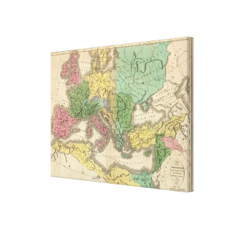 Map of Provinces in Roman Empire Canvas Print