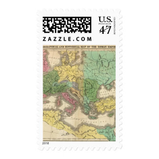 Map of Provinces in Roman Empire Postage Stamp