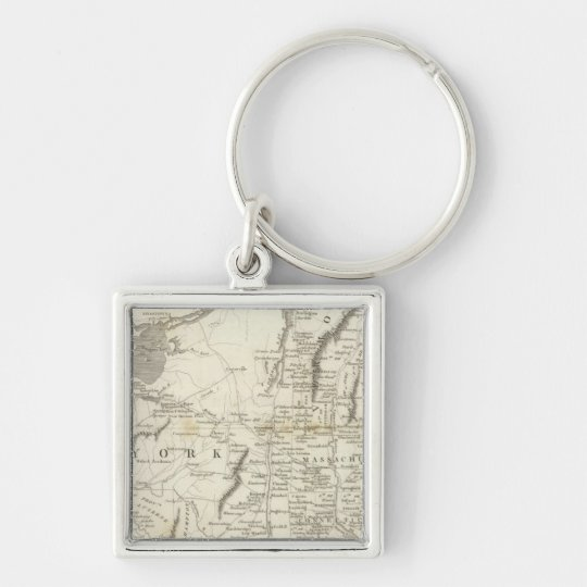 Map of Provinces of the United States Keychain