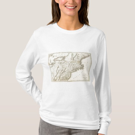 Map of Provinces of the United States T-Shirt