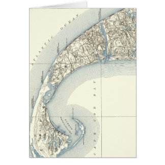 Map of Provincetown Cape Cod Massachusetts Card