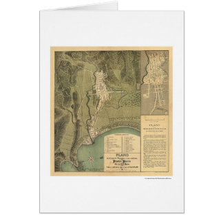 Map of Puerto Rico by Federico Drouyn 1888 Greeting Card