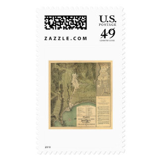 Map of Puerto Rico by Federico Drouyn 1888 Stamp