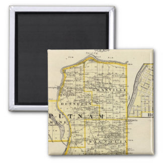 Map of Putnam and east part of Marshall counties 2 Inch Square Magnet
