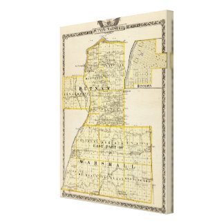 Map of Putnam and east part of Marshall counties Canvas Print
