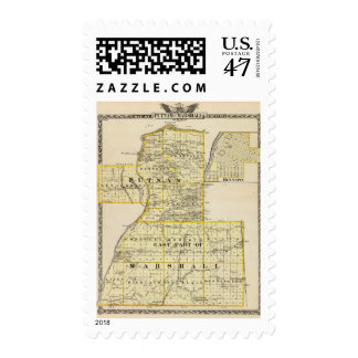 Map of Putnam and east part of Marshall counties Stamp